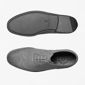 Grenson grey oxford lace up size 9